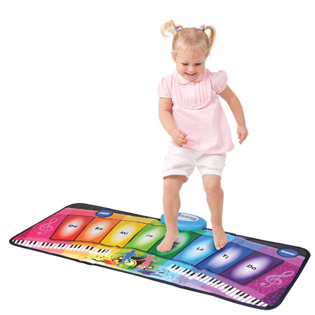 Couverture de danse de musique pour enfants arc-en-ciel Piano brillant multifonctionnel jeu Pad jouets éducatifs pour les enfants
