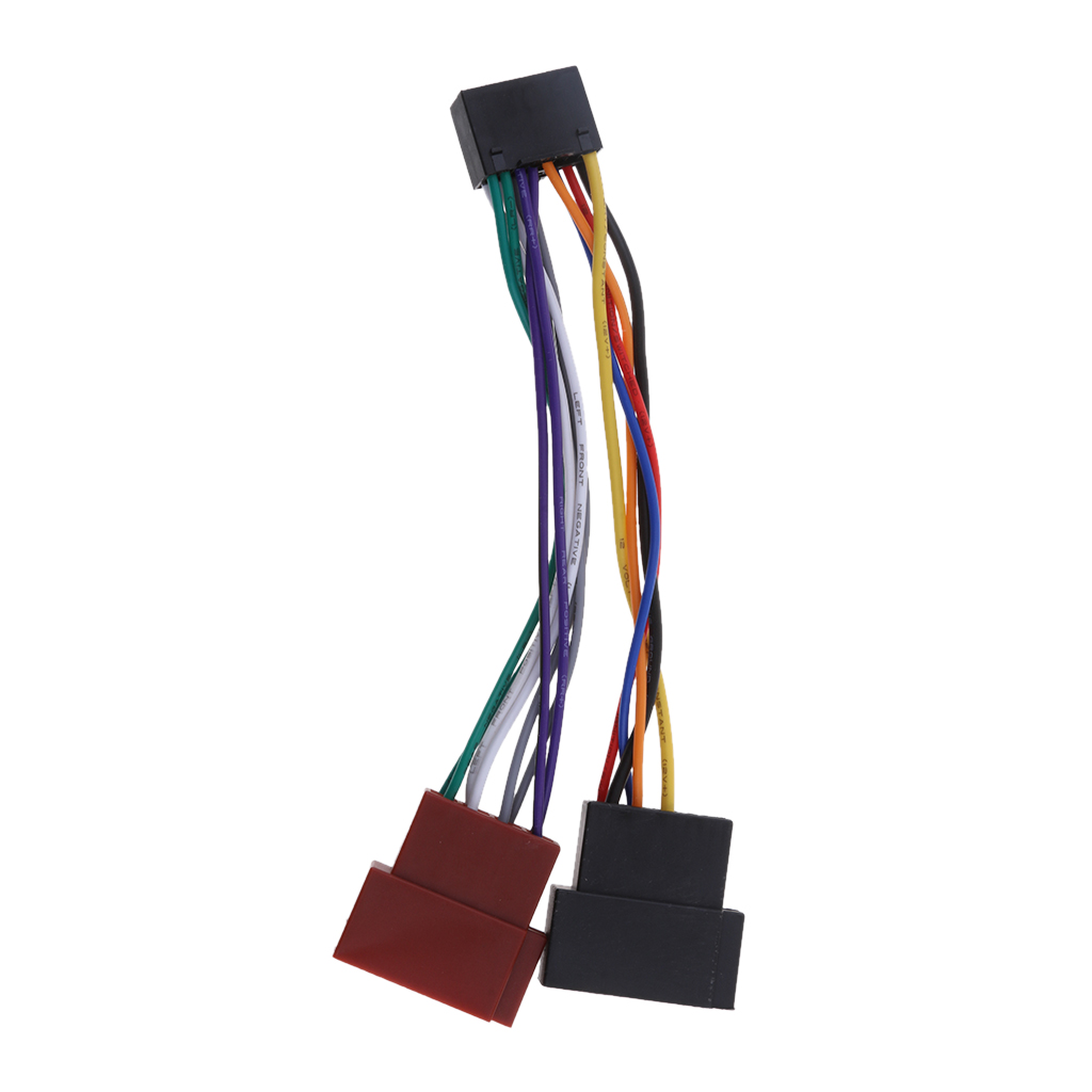 Car Audios ISO Standard Harness Auto Audios Installation Cables for Kenwood JVC Car Radio Sound in Wire from Automobiles Motorcycles
