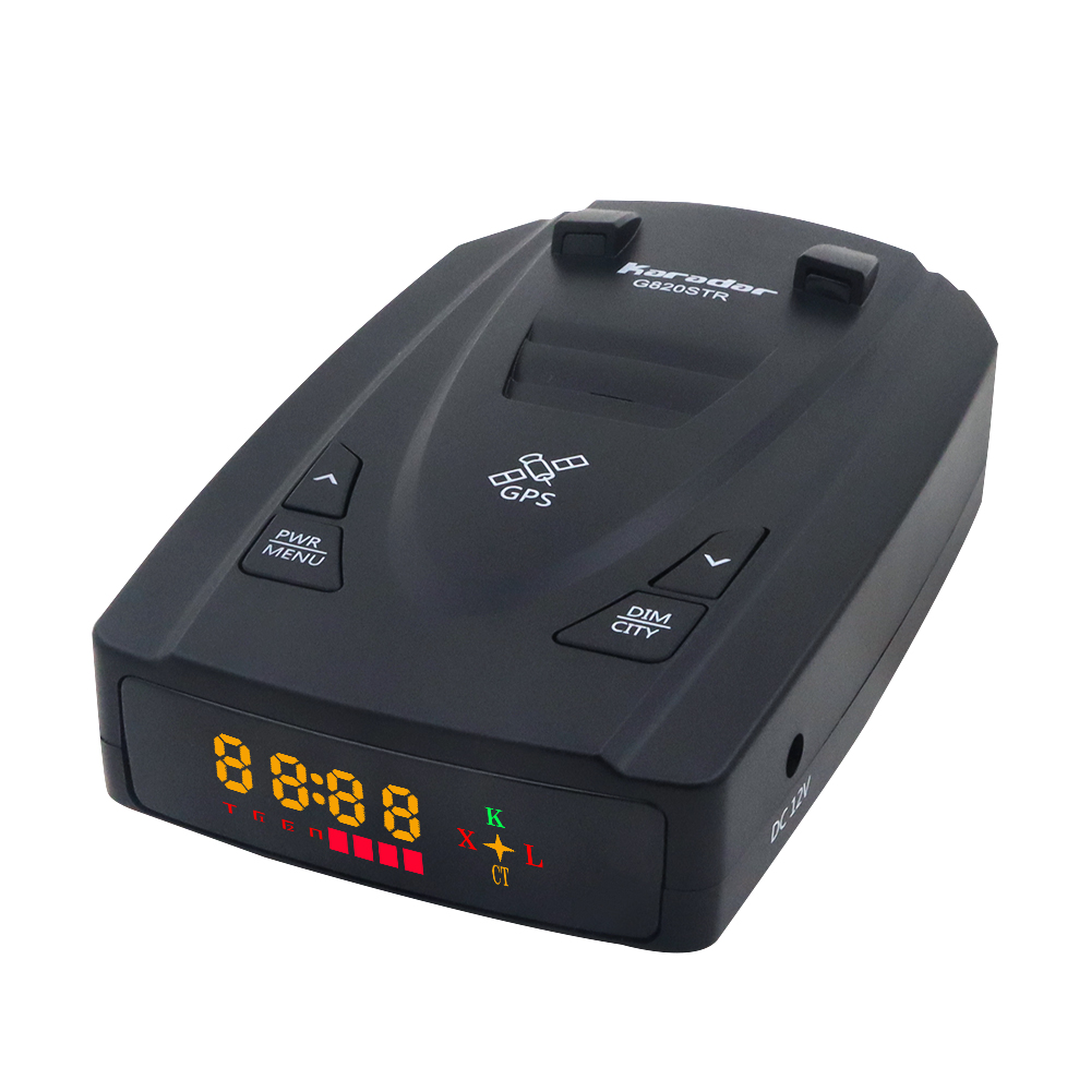 Karadar G820STR Radar Detectors Led 2 in 1 Radar Detector for Russia with GPS Car Anti Radars Police Speed Auto X CT K La(China)