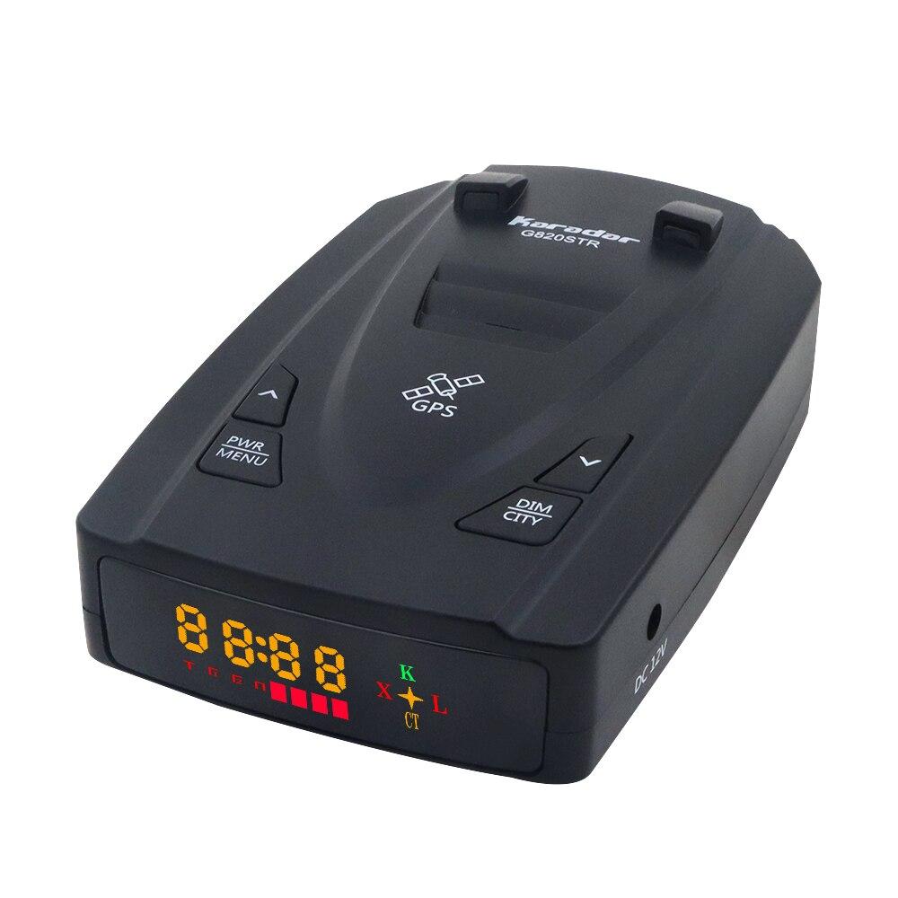 Karadar G820STR Radar Detektor LED 2 In 1 Radar Detector untuk Rusia dengan GPS Mobil Anti Radar Polisi Mobil Kecepatan X Ct K Kamus