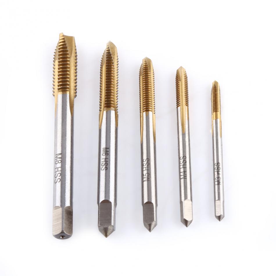 Spiral Point Thread Plug Handle Taps Titanium Machine Right Drill Flute Die Set