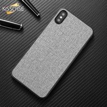 цена на Case For Moto G6 play KISSCASE Original Leather Cloth Phone Case For Motorola Moto G6 Plus Play Retro Fabric PU Case For Moto G6