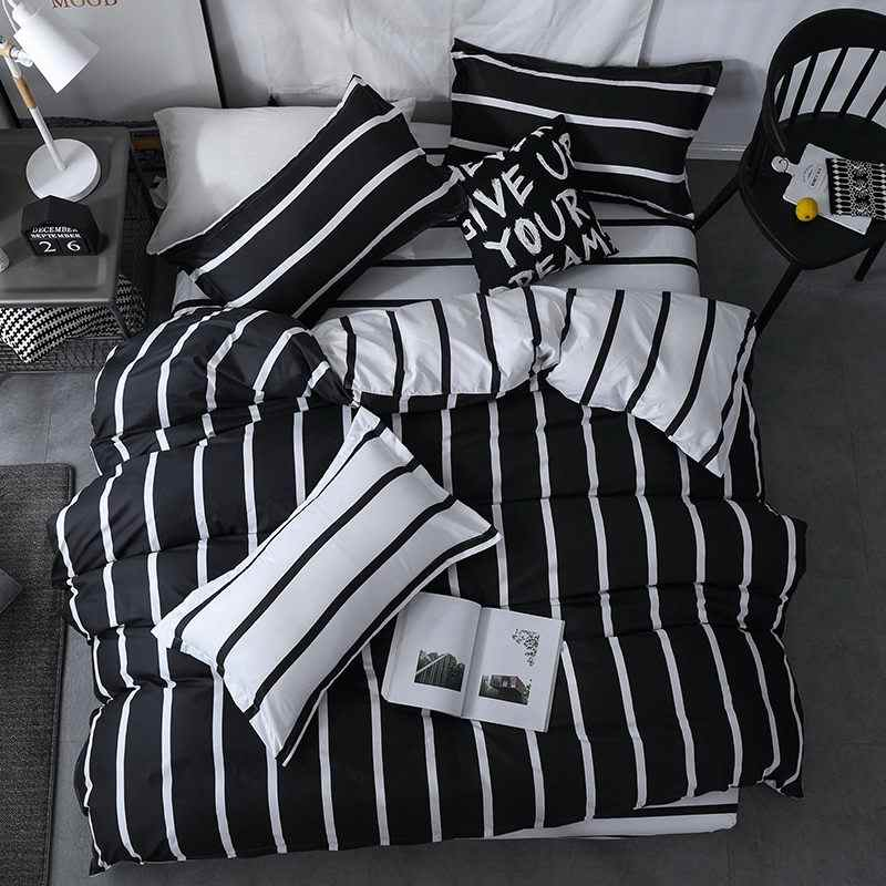 Black and white checkered  king queen full twin size Bedding Set  Duvet Cover Sets Include Duvet Cover Bed Sheet Pillowcase 29