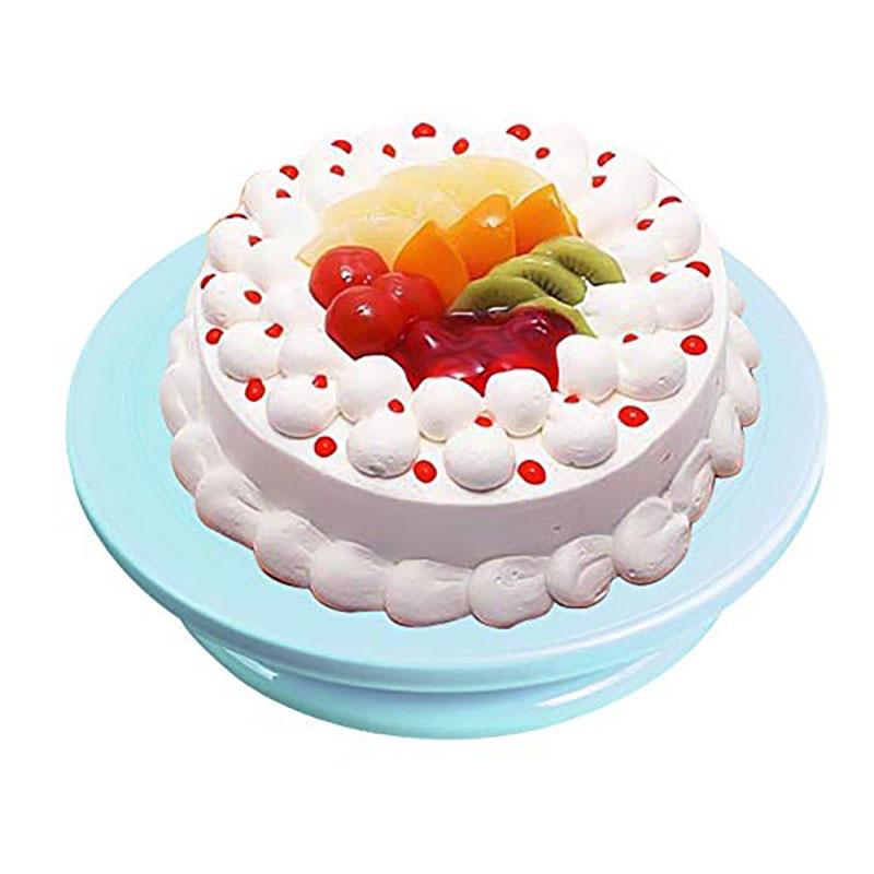 10 Inch Taart Decoreren Gereedschappen Plastic Base Cake Stand Sugarcraft Cake Draaitafel Cupcake Kwartelplaat Revolving Tool Regelmatig Drinken Met Thee Verbetert Uw Gezondheid