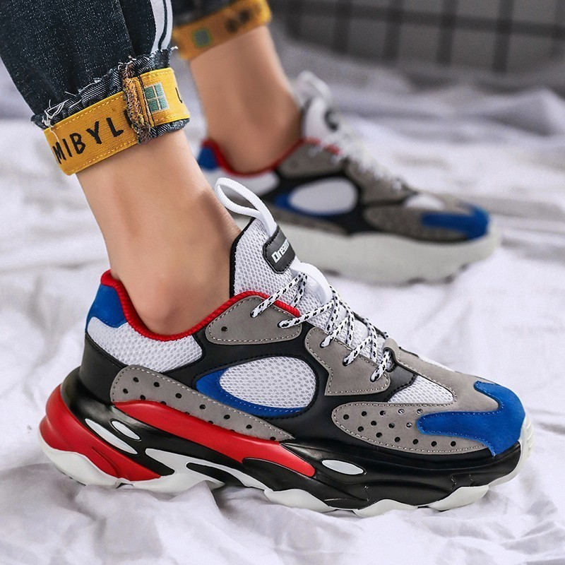 Sports Running Shoes Man For Adults 2019 Spring Breathable Athletic High Quality Increased Bottom Trainers Lace-up Man Sneakers