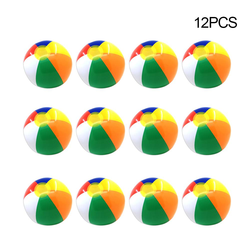 12PCS 30CM Inflatable Beach Ball Colorful Outdoor Water Sports Fun Swimming Pool Float Game Ball For Kids Adult
