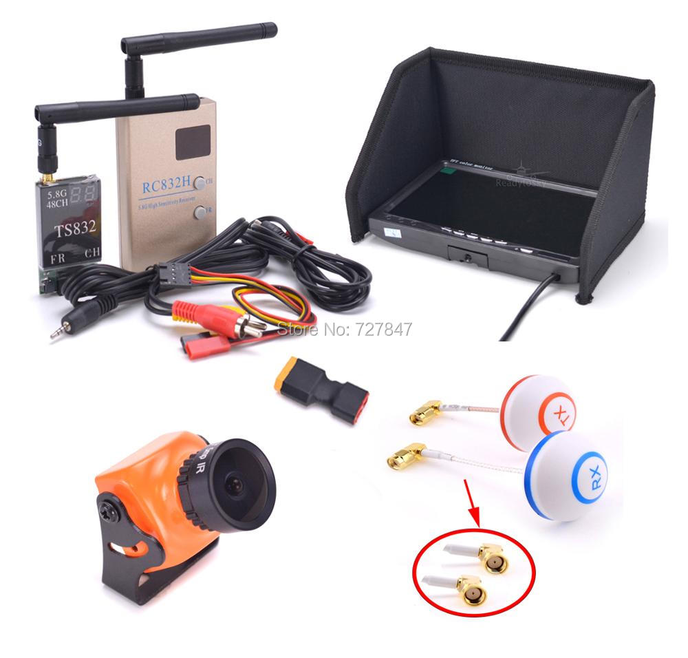 FPV Kit Combo A23 1500TVL Camera 2.1mm / 2.3mm + 5.8Ghz 600mw 48CH TS832 RC832 + IPS 7 inch LCD 1024 x600 Monitor for F450 S500