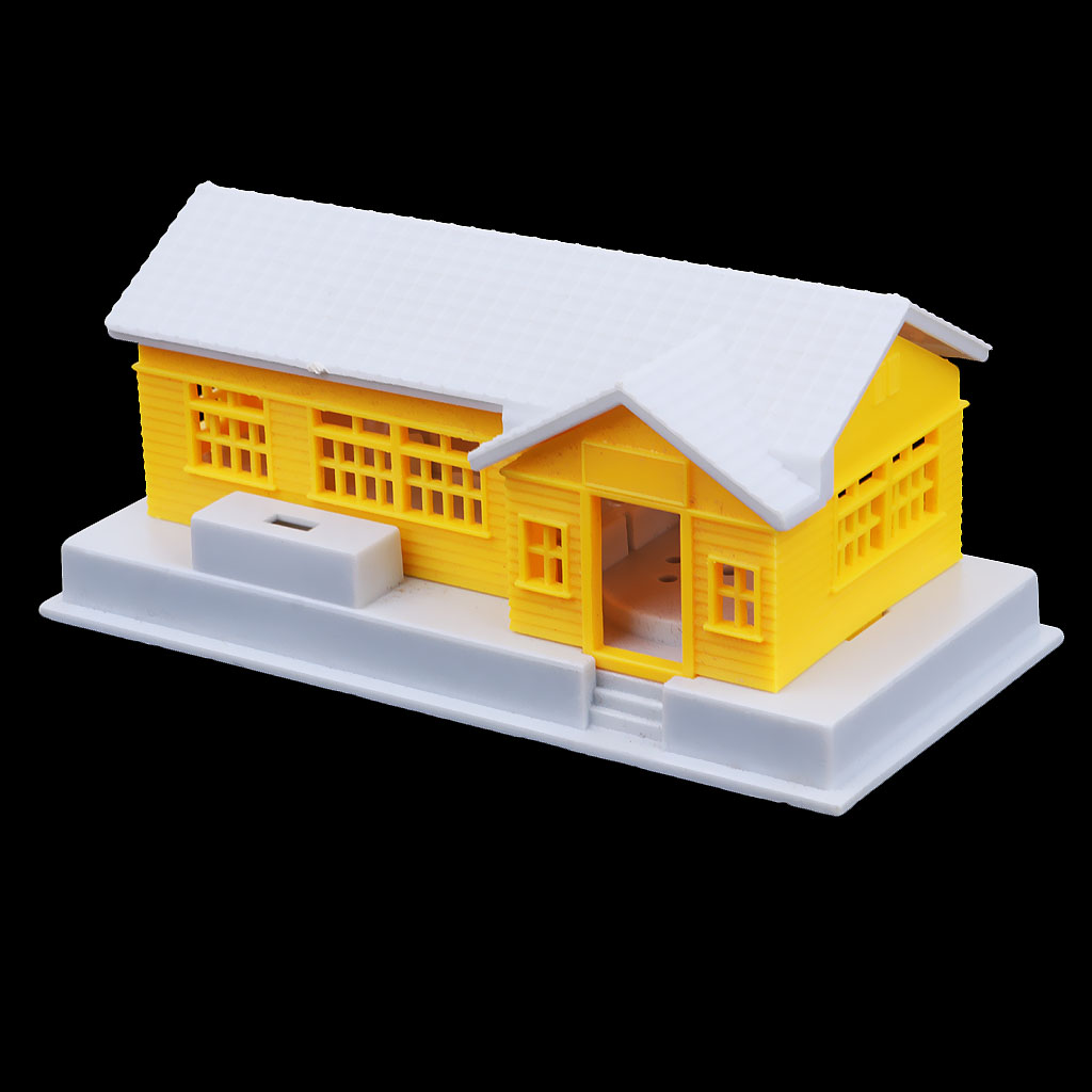 1:87 HO Scale Modern Miniature Building House DIY Sand Table Railway Diorama