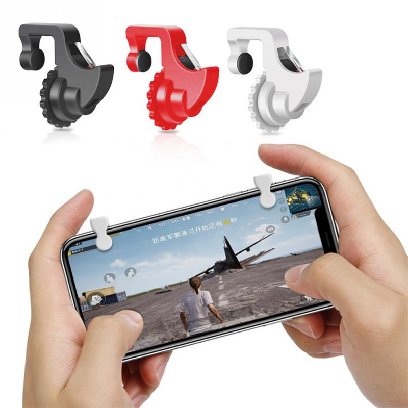 1Pair Smart Phone Games Shooter Game Controller Fire Button Handle Gaming Trigger For PUBG/Rules of Survival/Knives Out #4