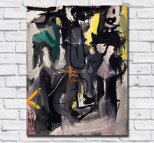 Hand Painted Abstract Oil Painting Franz Kline untitled 3 Wall Art Canvas Panting for Living Room and No Frames