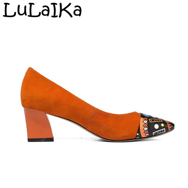 Alto Puntiagudo Black Zapatos De Moda Graffiti Fiesta 2019 Pie Bombas Del Boda Sexy Fino Dedo Mujer orange Sólido Hebilla Nueva Color Tacón wHSnxRFqB7