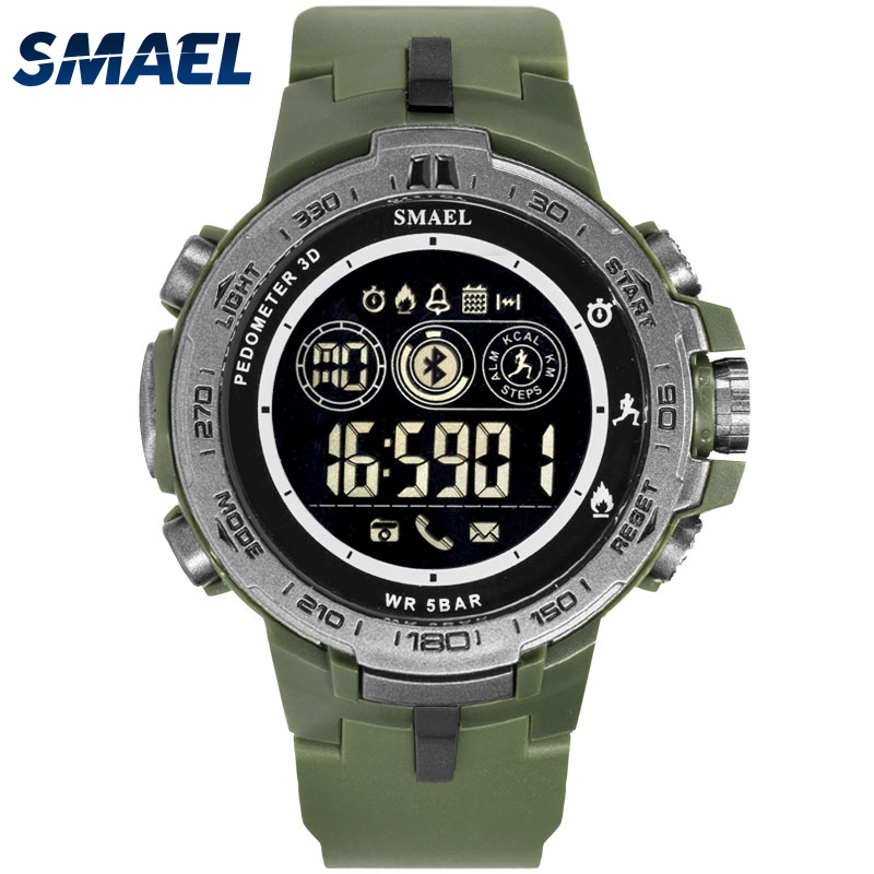 Waterproof Bluetooth Watches SMAEL Electronic Watch Men Military Army Watch Sport 8012 LED Digital Wristwatches Water Resistant