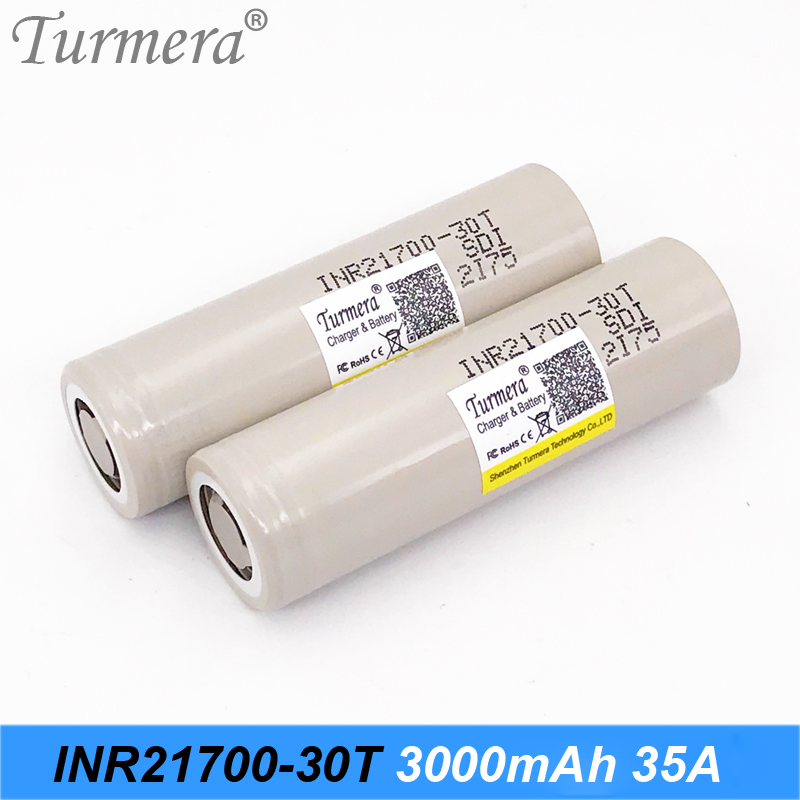 21700 battery 3000mah inr21700-30t 35A high drain battery for elecric cigarette and screwdriver power tool use