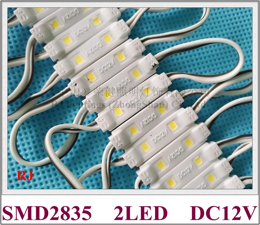 injection LED module waterproof LED light module for mini letters SMD2835 DC12V 2led 0 6W IP65