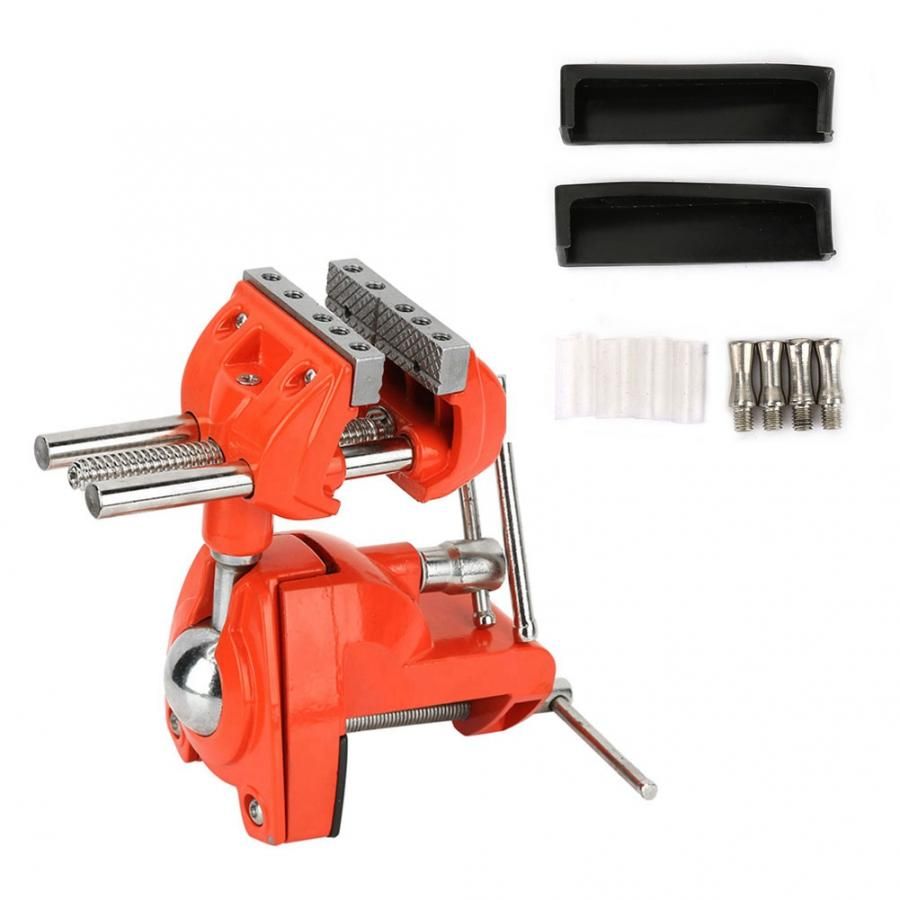 1 Set Mini 360 Degree Rotating Clamp Vise Adjustable 70mm Jaw Width Vise Table Clamp for