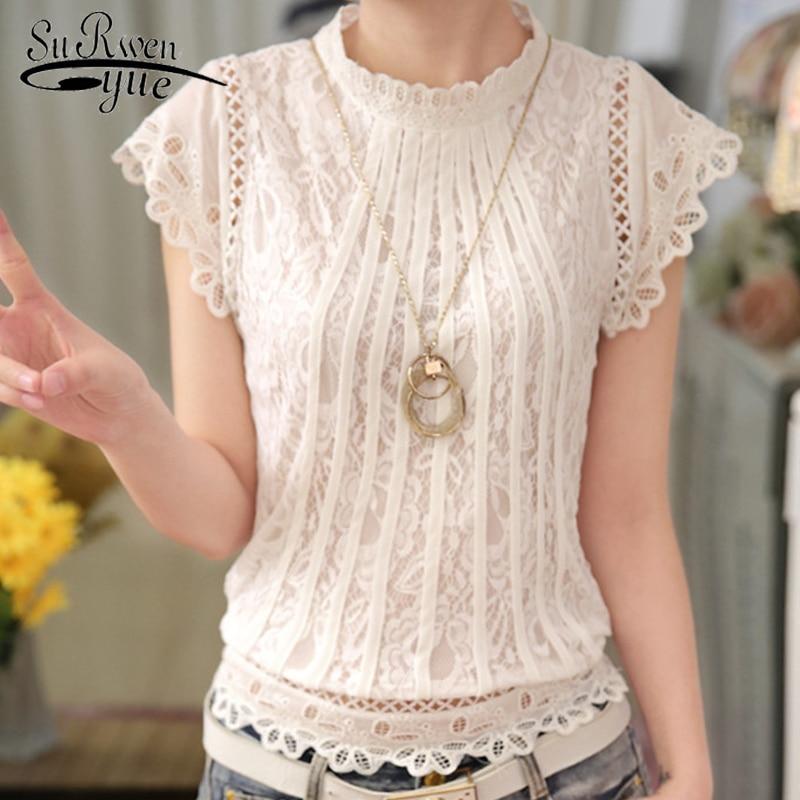 HLB1CZ HOHvpK1RjSZFqq6AXUVXaf Ladies tops Fashion Women's Clothing Wild Perspective Small Shawl Chiffon Lace Lacing Boleros shirts tops 802E 30
