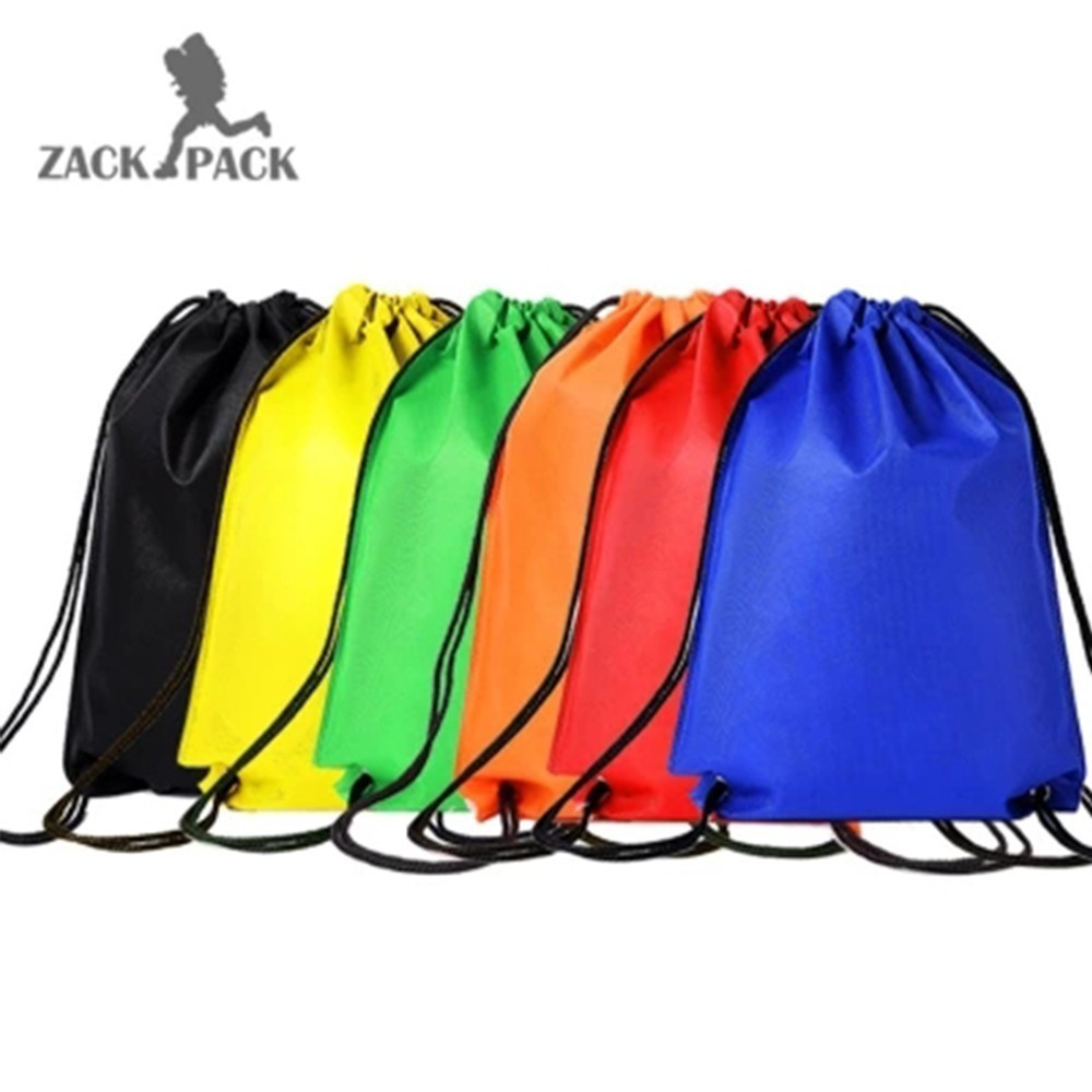 Sports Waterproof Drawstring Bags Custom Logo Pouch Backpack Pull Rope Male Female Small Canvas Gym Sack Mochila Knapsack DB22