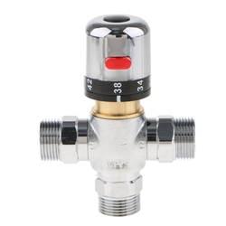 3/4 ''DN20 Мужской латунь резьба термостатический смесительный клапан солнечной водой Контроль температуры клапан
