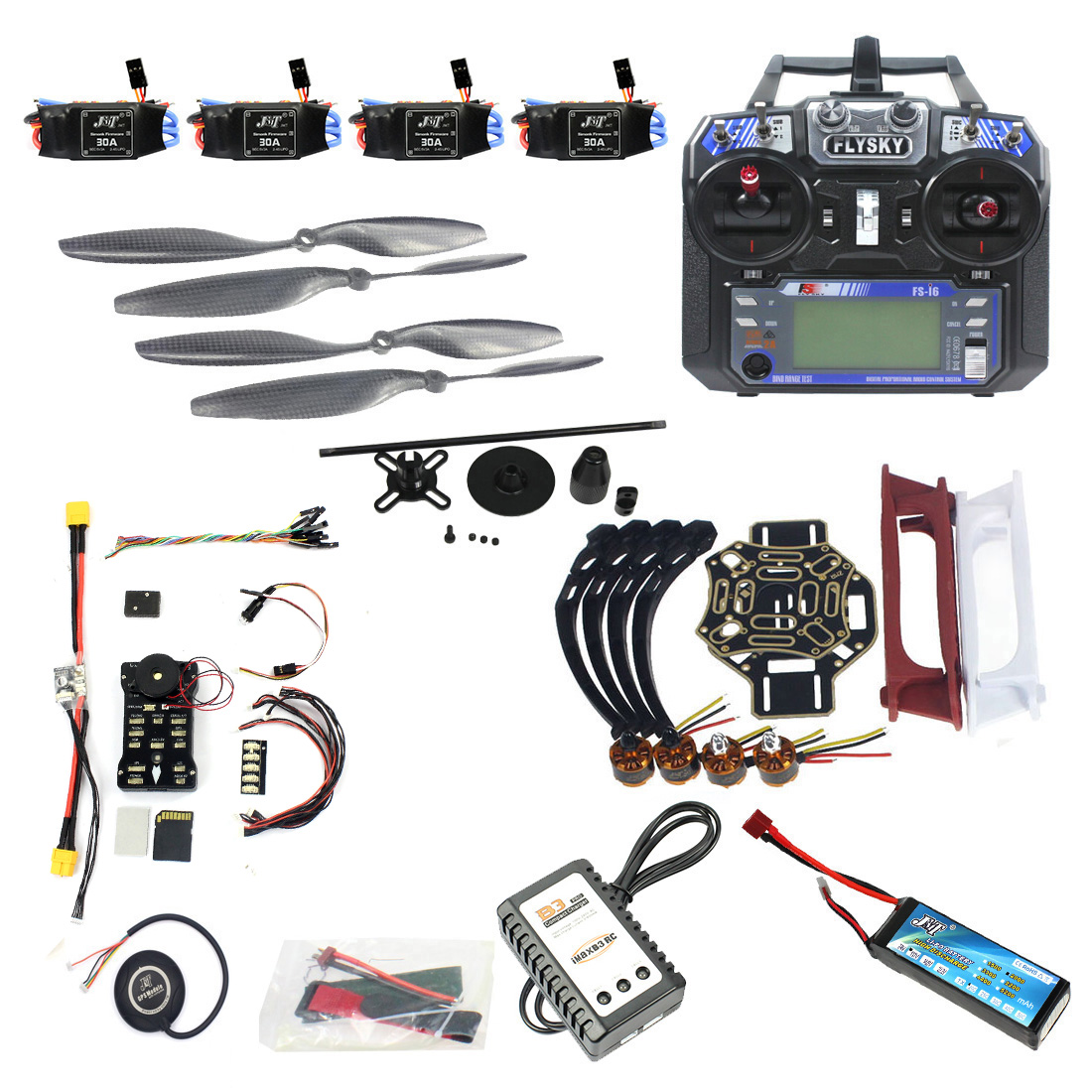 DIY FPV Drone Quadcopter 4-assige Aircraft Kit 450 Frame PXI PX4 ​​Flight Control 920KV Motor GPS FS-i6 Zender F02192-AC