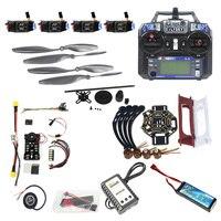 Nuevo DIY FPV Drone Quadcopter 4-eje aviones Kit 450 marco PXI PX4 de Control de vuelo 920KV Motor GPS FS-i6 transmisor helicóptero Juguetes