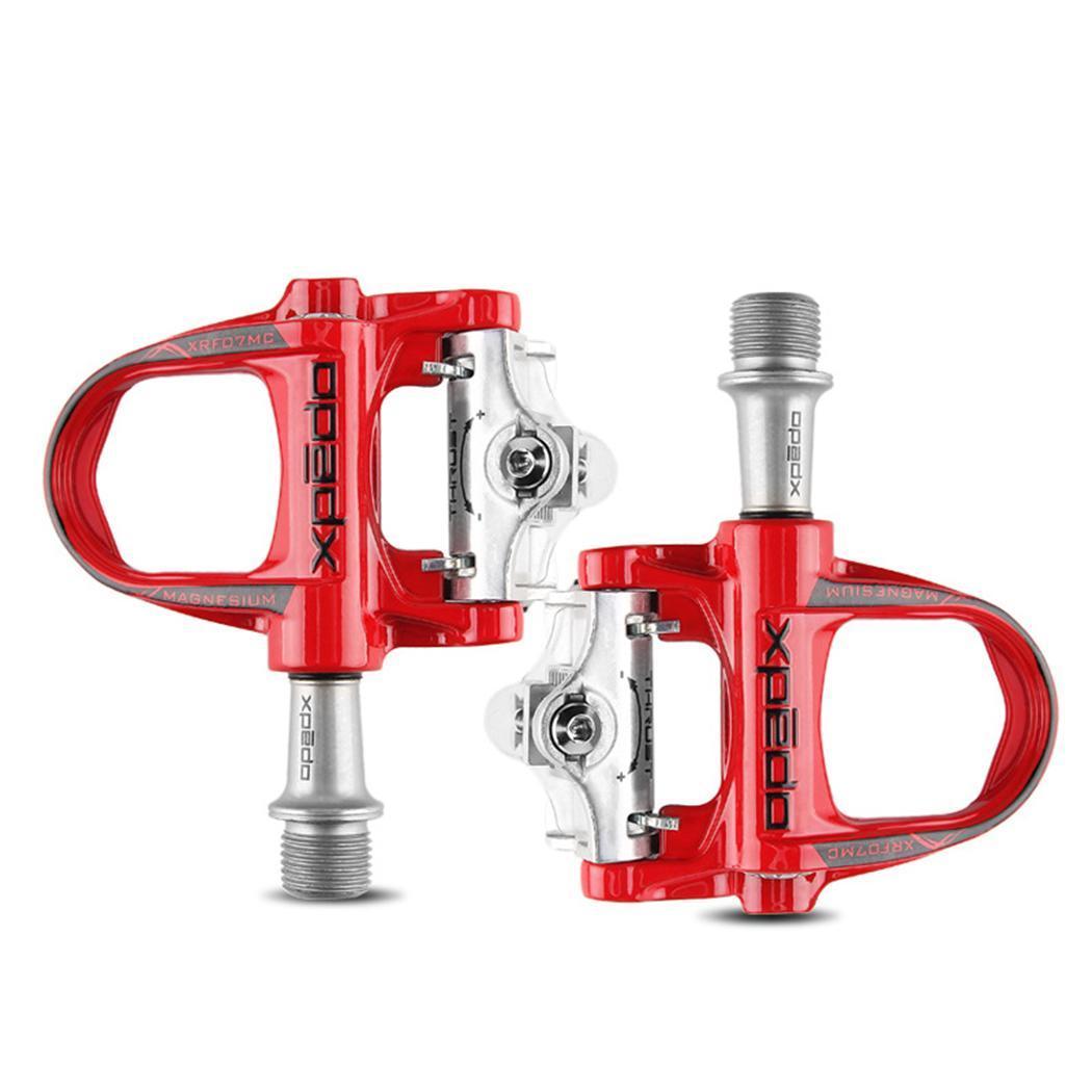 Pédales de vélo de route en alliage de magnésium Wellgo xpedo XRF07MC avec 2 paires de crampons compatibles avec keo