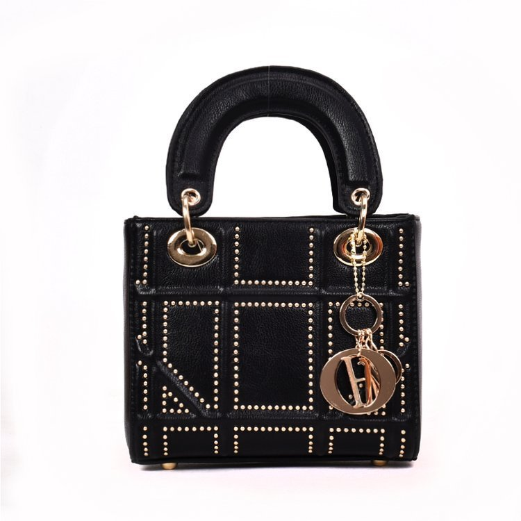 Small Rivet Ladies Hand Sling Crossbody Bags Women Leather Luxury Handbag Designer Female Shoulder Tote Bag Sac Main Pink Clutch 2