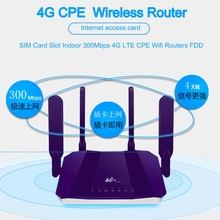 4G LTE CPE Mobile WiFi Wireless Router with SIM Card Slot Indoor Wifi Routers FDD 300Mbps