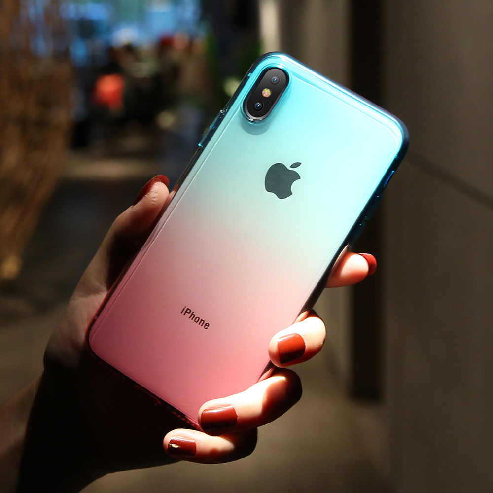 KISSCASE שיפוע מקרה עבור iPhone 11 6 6s 7 8 בתוספת X XR XS מקסימום Ultra דק סיליקון Case עבור iPhone 5S SE 11 פרו מקסימום כיסוי Coque