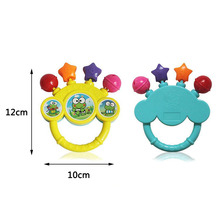 Cartoon Infant Baby Shake Bell Rattles Newborn Toys Hand Toy Funny Kids Music Playing
