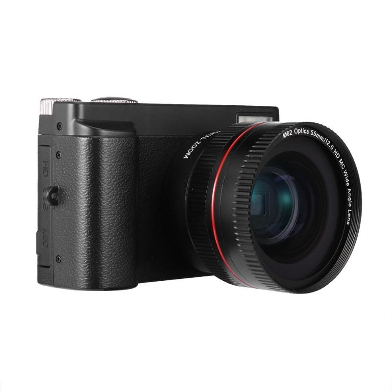 US $82 16 28% OFF|16X Optical Zoom 1080P HD 3 0 inch Display 180 Degree  Rotation Digital Camera Camcorder-in Point & Shoot Cameras from Consumer