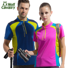 Men and womens outdoor T - shirts, T-Shirts, hiking sports clothes breathable t-shirts