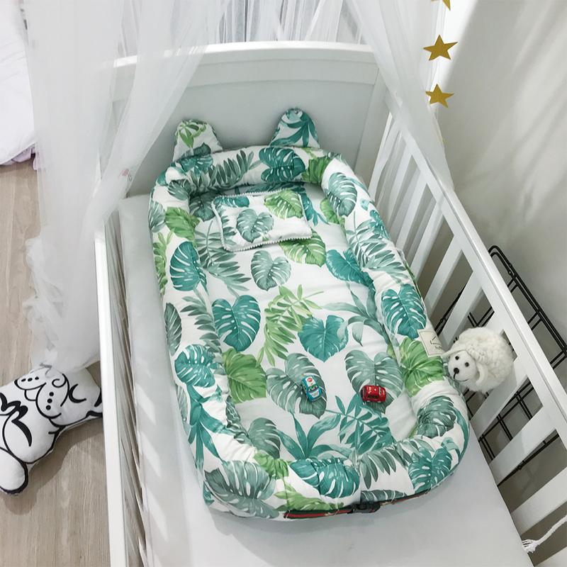 Portable Baby Crib Infant Toddler Cradle Cot For Newborn Nursery Travel Folding Baby Nest Bed For Infant Baby Care 26 Styles Детская кроватка