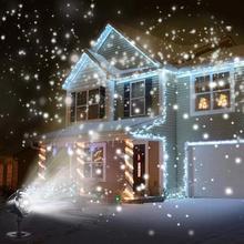 SOL светодиодный водонепроницаемый светильник для снегопада, проектор с пультом дистанционного управления, светильник для снега, для внутреннего и наружного освещения, для рождества, Хэллоуина