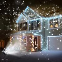 SOLLED LED Waterproof Snowfall Light Projector with Remote Control Snow Falling Light for Indoor Outdoor Christmas Halloween