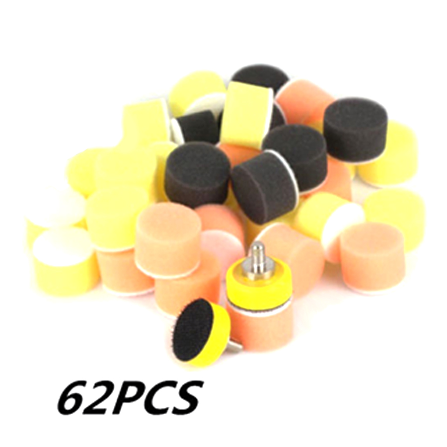 "1"" Inch 60 pcs 25mm Polishing Sponge 2 pcs M6 Polishing Plate for Polishing Machine Polishing Set-in Polishing Disc from Automobiles & Motorcycles"
