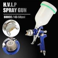 New Arrival 1.4MM Nozzle 600cc Cup Professional HVLP Spray Guns For Painting Car Aerograph Mini Air Paint Spray Guns Airbrush