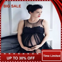 Maternity Photography Props Pregnant Photo Shoot Long Lace Chiffon Dress For Pregnancy Clothes Women