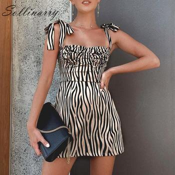 43e3d3b4e5f9f73 Sollinarry Zebra вечерние Клубные платья винтажные женские 2019 модные  повседневные сексуальные элегантные платья женские кружевные тонкие уличное.