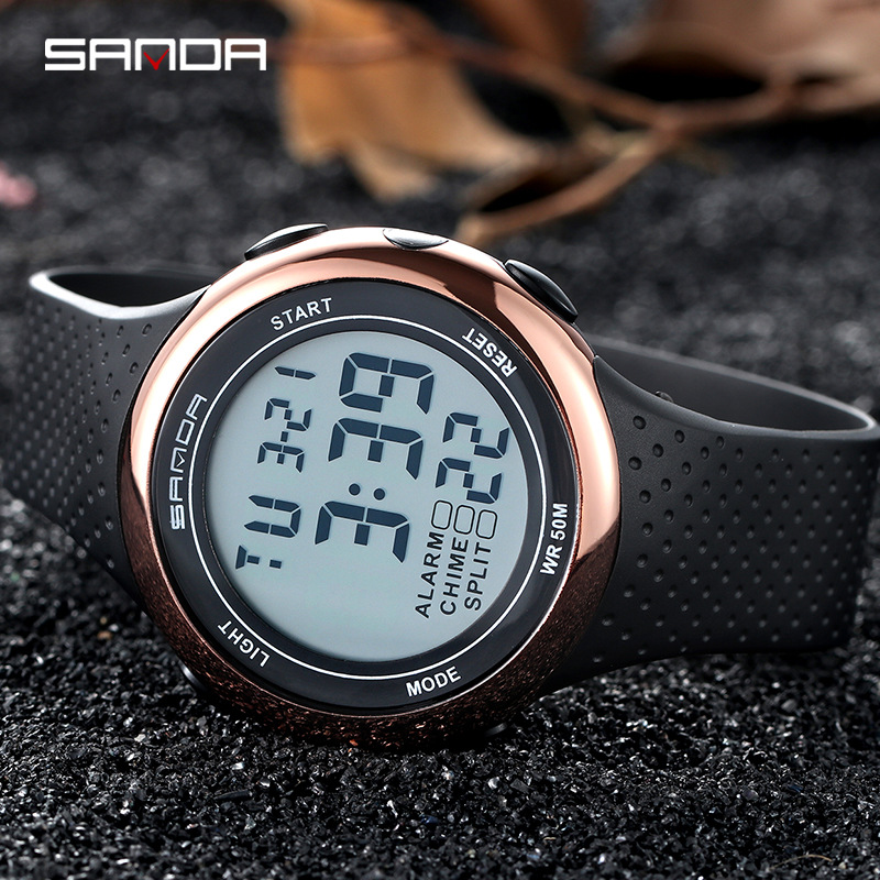 SANDA Fashion LED Men Sports Watches 30M Waterproof Digital Watch Luminous Week Month Display Calendar Chronograph Alarm ClockSANDA Fashion LED Men Sports Watches 30M Waterproof Digital Watch Luminous Week Month Display Calendar Chronograph Alarm Clock