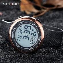 SANDA Fashion LED Men Sports Watches 30M Waterproof Digital Watch Luminous Week Month Display Calendar Chronograph Alarm Clock