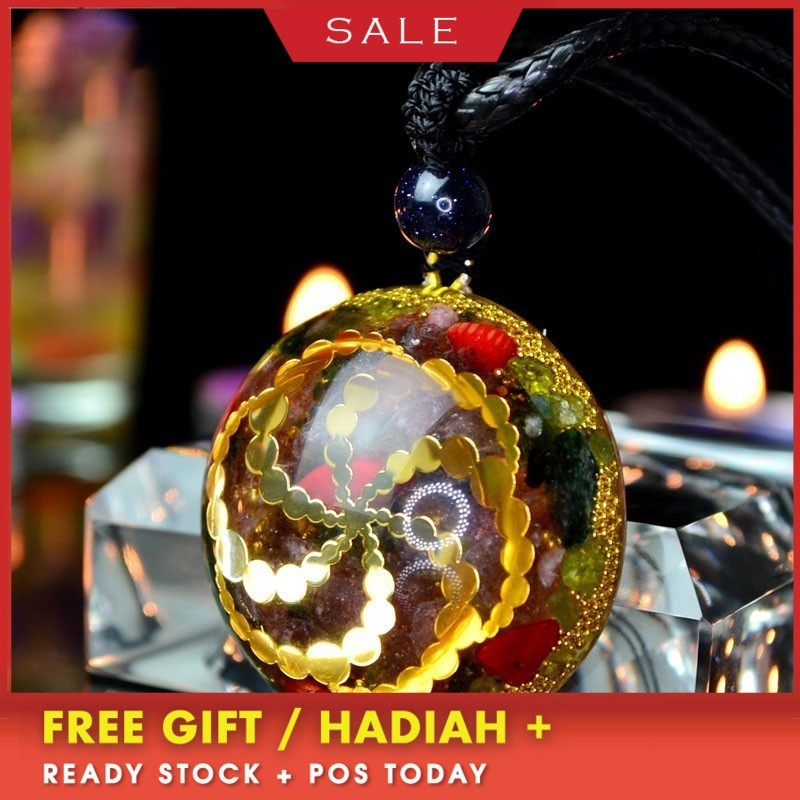 AURAREIKI Orgonite Energy Pendant Accumulate Wealth Field Natural Crystal Pendant Necklace Charm Lucky Jewelry Chakra StoneAURAREIKI Orgonite Energy Pendant Accumulate Wealth Field Natural Crystal Pendant Necklace Charm Lucky Jewelry Chakra Stone