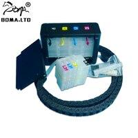 4 kleur/Set DIY 711 Bulk Inkt CISS Continuous Ink Supply System Voor HP 711 Voor HP Designjet T120 t520 Printers 36/24 inch