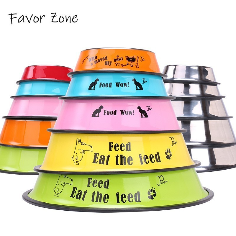 Stainless Steel Silicone Dog Bowls Variety Styles Travel Portable Pet Dog Cat Bowls For Feeder Universal Small Medium Large Dogs in Dog Feeding from Home Garden