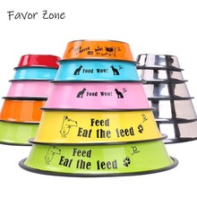 Stainless Steel Silicone Dog Bowls Variety Styles Travel Portable Pet Cat For Feeder Universal Small Medium Large Dogs