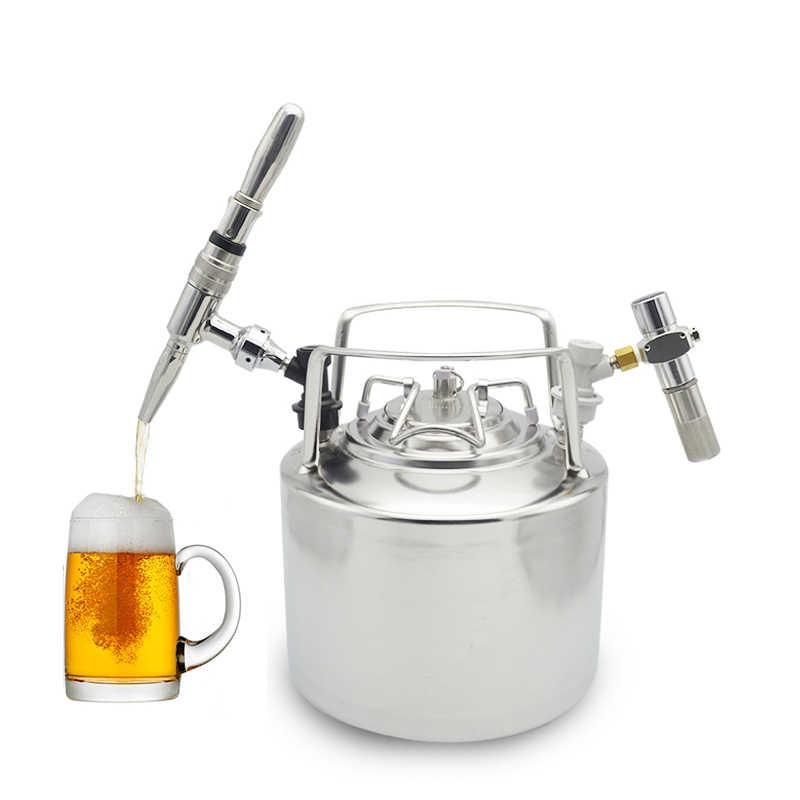 6L Sfera in acciaio inox di Blocco Barilotto di Birra Growler per le Imbarcazioni In Pressione Distributore di Birra Sistema Home Brew Beer Birra Maniglie In Metallo