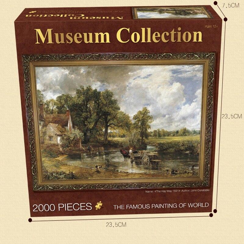Adulte puzzle 2000 pièces monde célèbre peinture peinture à l'huile bricolage creative avion jouet fabricants personnalisé Personnalisé Jigsaw