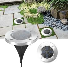 LED Light Buried Under Ground Lamp IP65 Waterproof With Solar Powe For Outdoor Yard Garden Lawn