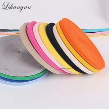 Lshangnn 10mm 45yards 100% Cotton Belt Herringbone Tape Package Ribbon 26 Colours For Handmade Diy Cloth Accessories