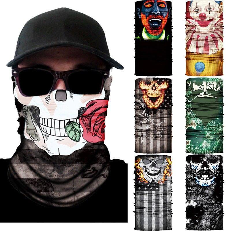 3D Cycling Bicycle Motorcycle Skull Cap Balaclava Headgear Hats Full Face motorcycle mask