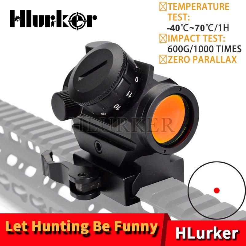 Caza Micro Vista de punto rojo que gira alcance francotirador Riflescope holográfica lugares AK47 Rifle de aire lugares ámbitos para escopetas óptica